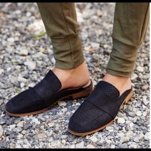 Free people at ease reptile leather loafer…